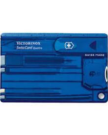 Victorinox - Swiss Card Transperant blå