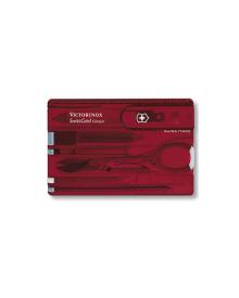 Victorinox - Swiss Card Transperant rød