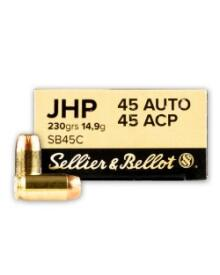 Sellier&Bellot - S&B 45 Auto 14,9 gr. JHP