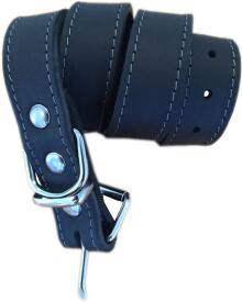 Whesco - soft læderhalsbånd sort 65 cm