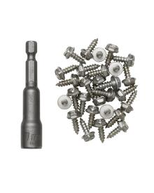 Kinetic - Spike kit Stainless 30 stk