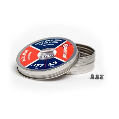 Crosman - match fladhagl 4,5 mm 500stk