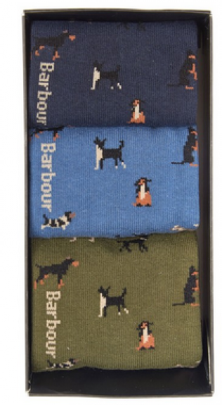 Barbour - Dog Motif Sock