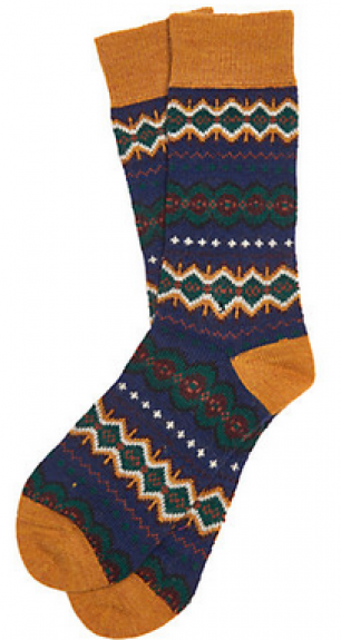 Barbour - Caistown fairisle sock