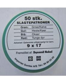 RWS - Slagtepatroner 9mm Grøn