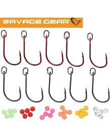 Savage Gear - Single hook Red & DG kit 10pcs